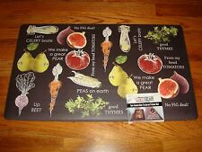PVC Foam Anti Fatigue Chef Kitchen Floor Mat Rug 18x30 VEGETABLES Fruits  FUN !!!