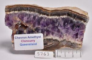 CHEVRON AMETHYST SLAB, AUSTRALIA (S763)