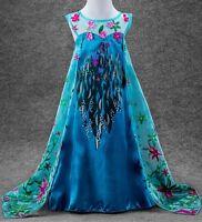 Frozen Fever Elsa Princess Costume Party Fancy Dress suit 3 4 5 6 7 8 9 10 years