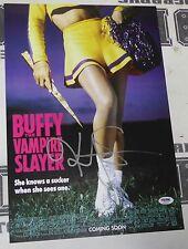 Kristy Swanson Signed Buffy The Vampire Slayer 11x17 Movie Poster PSA/DNA COA