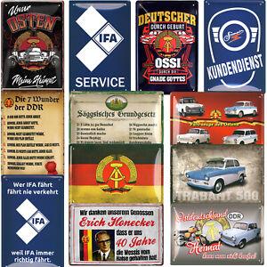 Blechschilder DDR Ossi IFA Schild 20x30cm Trabi Geschenke Ostalgie Vintage Logo