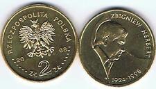 Zbigniew HERBERT 2008 2 Zl Muenze Bfr