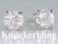 0.30ct Certified D IF Diamond Solitaire Stud Earrings in Solid 18ct White Gold