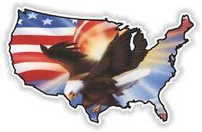 USA Eagle autocollant Amérique États-Unis Carte Drapeau Autocollant Vinyle pare-chocs Patriot N14
