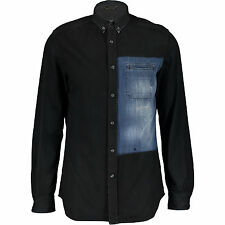 70% di sconto nero Diesel Denim Camicia XL RRP £ 279 ORO Fit