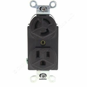 P&S Black Combo Duplex Locking/Straight Receptacle 2P3W NEMA 5-15R 15A 125V 4792