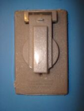 BWF FC-71V Gray Single Receptacle or Single Switch Cover