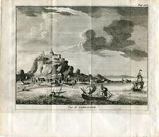 Vue de Gibraltar. Grabado por Pieter Van der Aa, 1707.