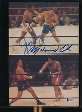 "11"" x 7"" Photo Auto Signed Muhammad Ali Jerry Quarry Beckett Letter COA"