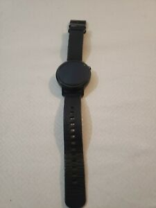 Motorola Moto 360 2nd Gen Mens 42mm Black Stainless Steel Watch - UNTESTED -Read