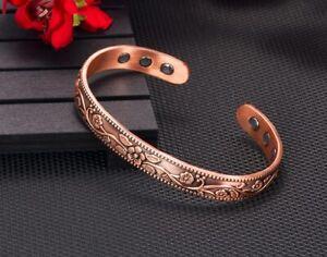 Bracelet magnétique en cuivre avec 6 aimants Anti-Douleurs, Rhumatisme Arthrose