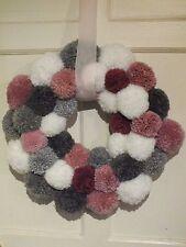 Large Handmade Christmas Pom Pom Wreath
