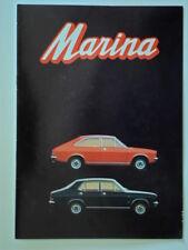 MORRIS MARINA RANGE orig 1971 French Mkt Sales Brochure - BL
