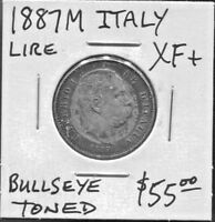 ITALY -  FANTASTIC HISTORICAL UMBERTO I 1877 M SILVER 1 LIRA, AR 22, KM# 24.2