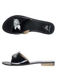 KOH-TAO black leather sandals sandali ciabatte scarpe donna pelle nero 38 NIB