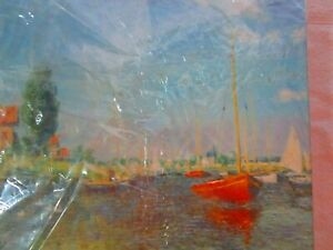 Red Boats, Argenteuil Fine Art Jigsaw Puzzle   FACTORY SEALED