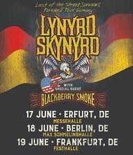 "LYNYRD SKYNYRD ""STREET SURVIVORS FAREWELL TOUR"" 2019 GERMAN CONCERT POSTER"