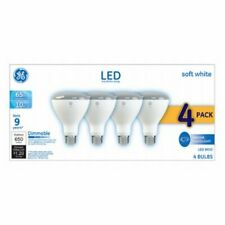 GE LED 10W Soft White, BR30 Indoor Flood Base Dimmable, 4pk Light Bulbs 16 Bulbs