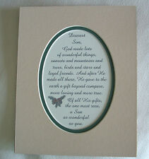 God Made SON Loyal FRIENDS Loving TRUE Gift Beyond Compare verses poems plaques