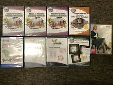 Lot of 9 Floriani & Pfaff Embroidery Design Collection Cd's