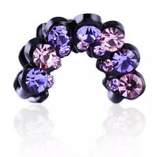 QUALITY Hair Claw using Swarovski Crystal Hairpin Clip Fashion Bowknot Purple 01
