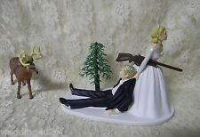 Wedding Deer Hunter Hunting Cake Topper Blonde Hair on Bride - Blonde on Groom~~