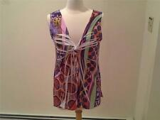 SIZE L - MISS TINA $19.94 - Pleated Tunic Orange Purple Pink Green Yellow