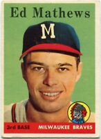 Eddie Mathews 1958 Topps Card #440