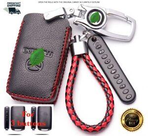 For Mazda 3 CX3 CX5 CX30 Car key case cover remote Geniue leather 2019-21 3 btns