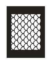 Airbrush Schablone - Stencil Art.-Nr.12508 Schuppen aus Mylar Folie
