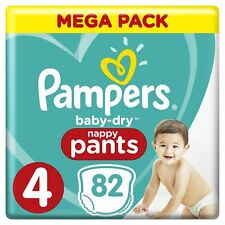 PAMPERS - TAILLE 4 (9-15 kg) - Baby Dry Pants Couches-culottes MEGA PACK X82
