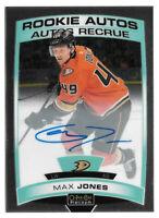 2019-20 Max Jones O-Pee-Chee OPC Platinum Rookie Auto - Anaheim Ducks