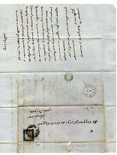 1861 regno di sardegna varietà su busta come lettera 20c. con effige a sinistra