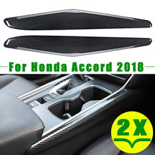 2X Carbon Fiber Inner Gear Shift Panel Stripe Cover Trim For Honda Accord