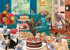 GIBSONS FELINE FRENZY CATS 1000 PIECE JIGSAW PUZZLE STEVE READ - NEW - G6221
