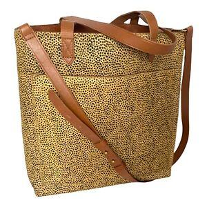 NEW WT  Madewell Genuine Calf Hair Small Transport Tote Bag - Crossbody Strap 🐆