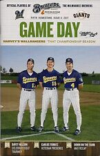 R YOUNT P MOLITOR J GANTNER COVER MILWAUKEE BREWERS '17 GAMEDAY PROGRAM ISSUE #7