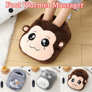 Electric Heated Foot Warmer Comfort Massager Feet Hot Boots Slipper Tools Gifts