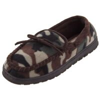 Northern Trail Mens Camouflage Fleece Moccasin Slippers