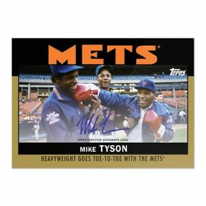"""2021 Topps """"Once Upon A Time In Queens"""" Mike Tyson On Card GOLD Auto #d 1/1"""
