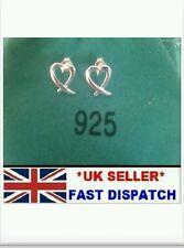 Uk* kiss cross open 925 sterling silver heart stud Earrings lady new gift +bag