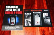 EDIROL R-09HR Roland wave mp3 recorder - guide manual booklet brochure prospekt