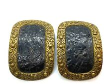 Buckles with Push Button Mechanism Antique Pair of Ornate Georgian Shoe