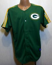 Rare Original Mitchell & Ness Green Bay Packers NFL Jersey Shirt Football Size L