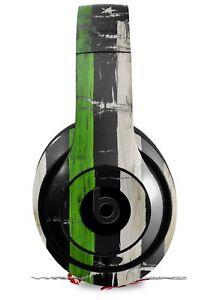 Skin for Beats Studio 2 3 Cracked Green Line USA American Flag HEADPHONE NOT INC