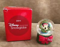 Disney JC Penny 2011 Mickey Mouse Christmas Mini Snow Globe New in box