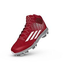 Brand New Adidas Power Alley 3 Tpu Mid Red/White Baseball Shoes S84717 size 15