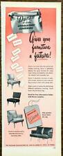 1949 Duran All Plastic Upholstery Covering PRINT AD Beautiful Colorful Durable