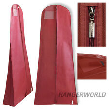 Hangerworld 182cm funda protege vestido largo Burdeos transpirable cremallera