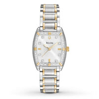 Bulova Women's 98R159 Quartz Diamond Accents Two-Tone Bracelet 24mm Watch